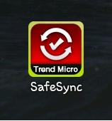 Tap the SafeSync icon