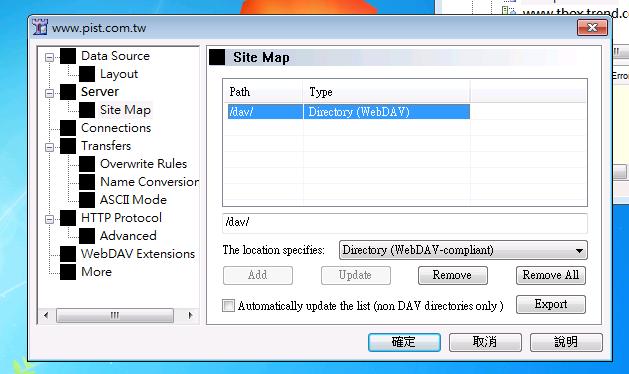 Configure sitemap