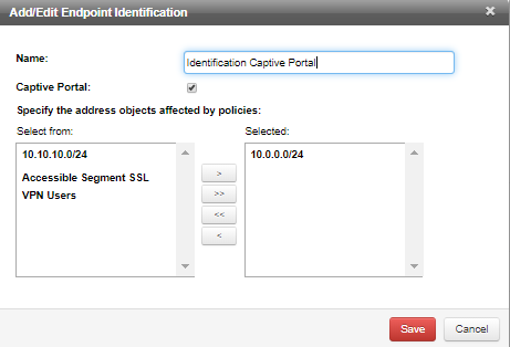 Configure Endpoint Identification and Captive Portal Login