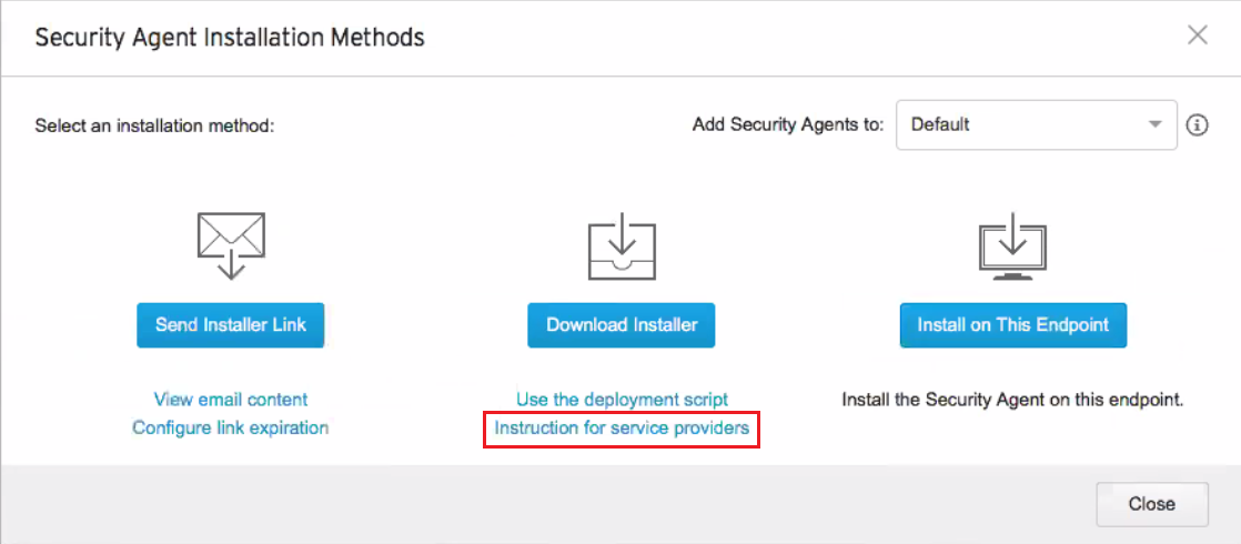 Click Instruction for service providers