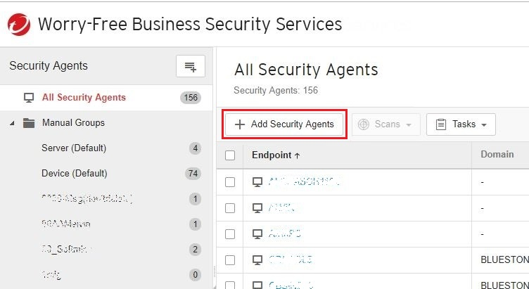 Add Security Agents
