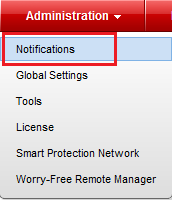 Administration - Notifications