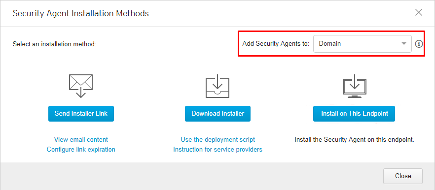 Add Security Agents to