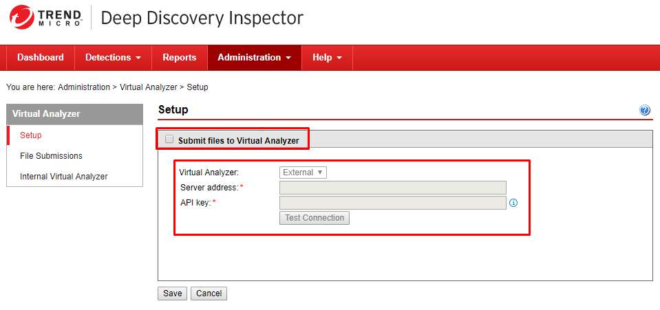 Tick Submit files to Virtual Analyzer