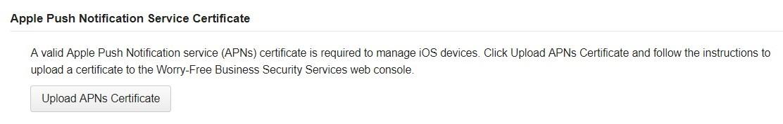 Apple Push Notification service certificate