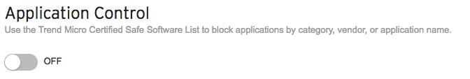 Application Control