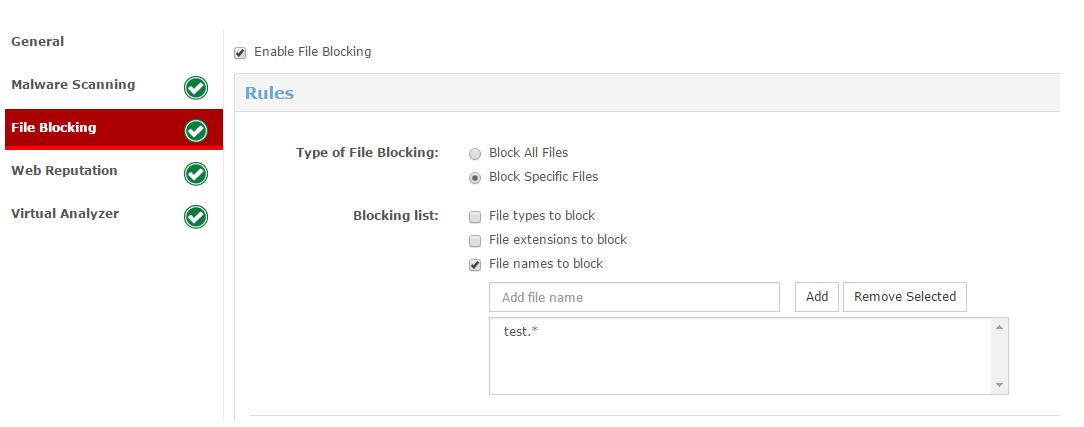 file blocking