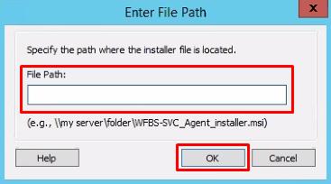 Enter File Path