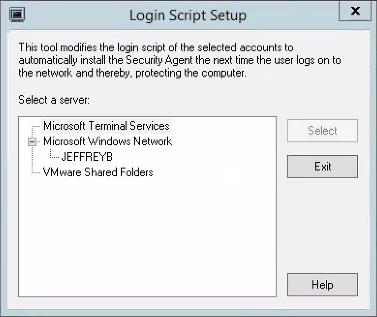 Login Script Setup tool