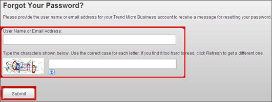 Provide username or address