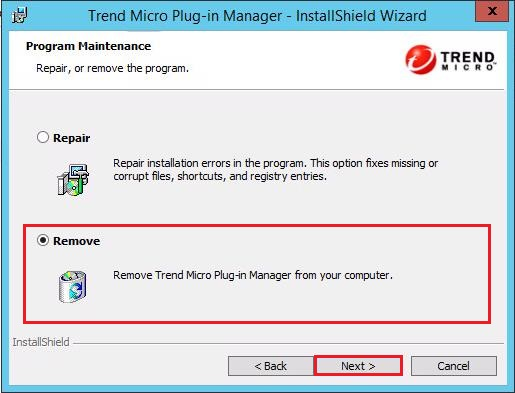 Remove Trend Micro Plug-in Manager