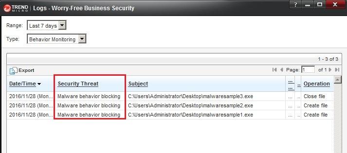 Malware Behavior Blocking