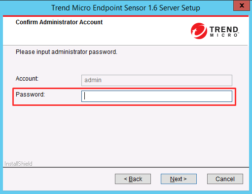 Enter administrator password