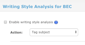 Writing style analysis for BEC1