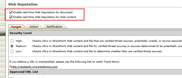 Web Reputation for PortalProtect