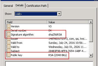Check SSL certificate files