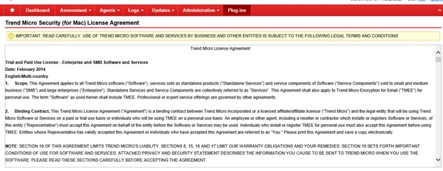 TMSM license agreement