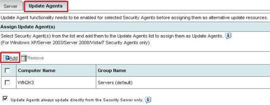 Add Update Agents