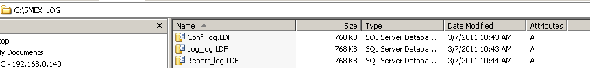 copy .ldf files