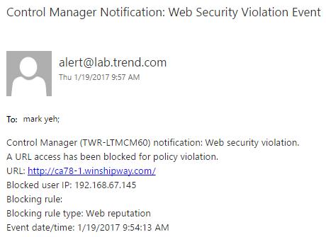 WRS Notification