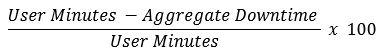 Monthly Uptime Percentage formula