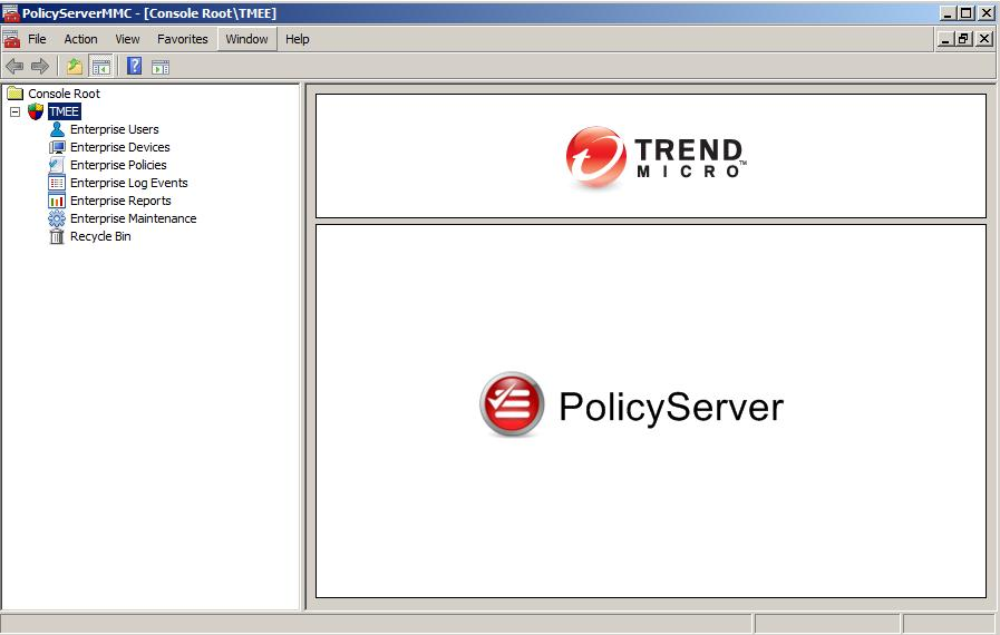 Log in to Policy Server MMC