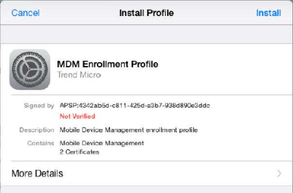 Install MDM Profile