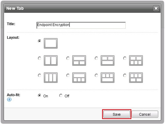 Name the tab Endpoint Encryption