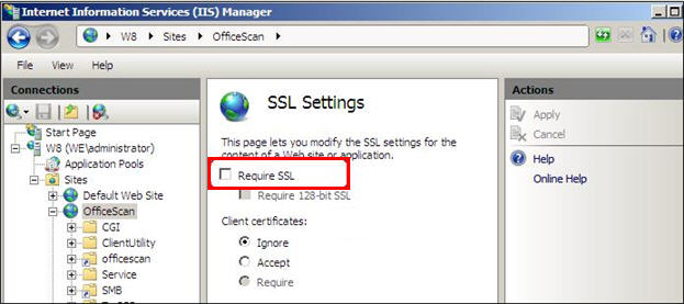 Require SSL option