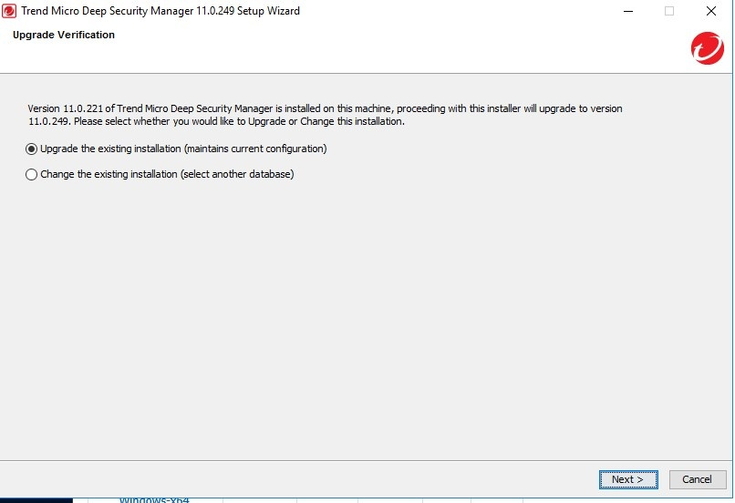 Upgrade Deep Security Manager to version 11.0 U2