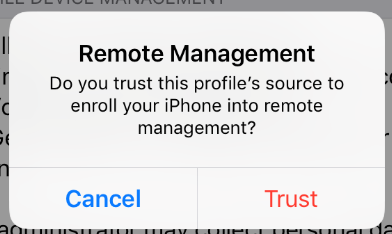 Trust profile source