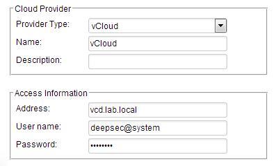 configure new vCloud Director instance