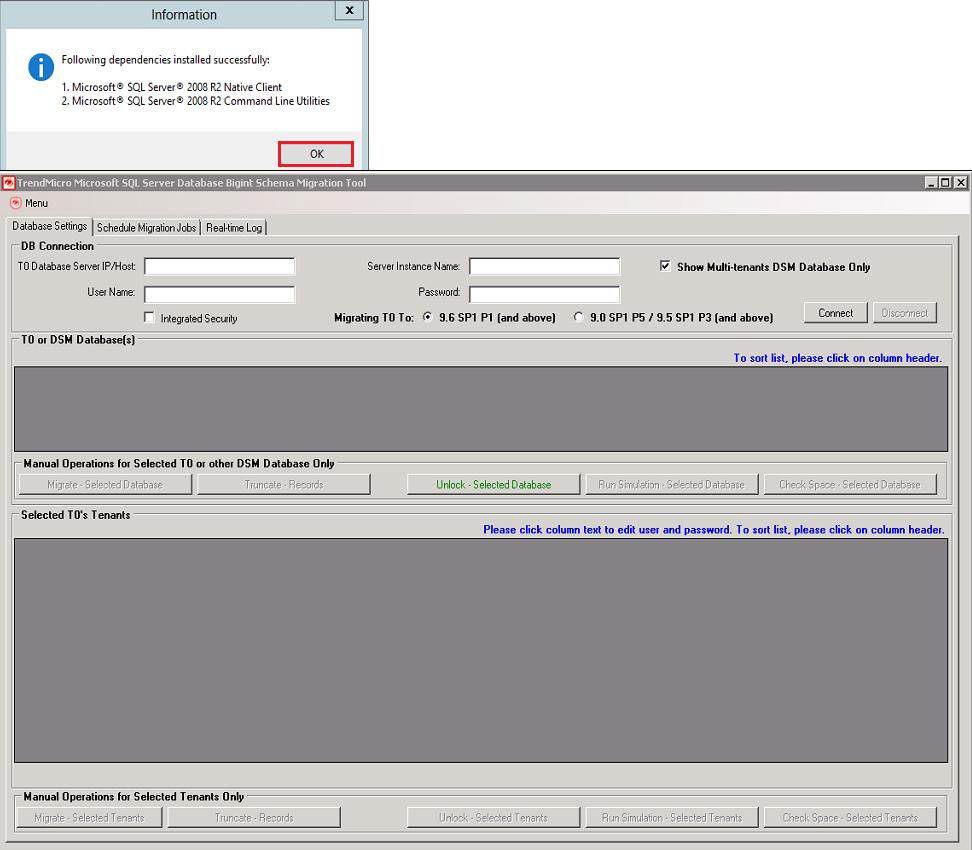 Installed dependencies