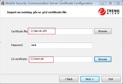 certificate import 2