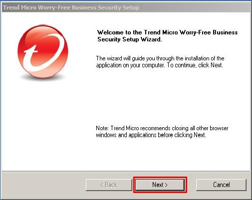 Start installing WFBS 9.0