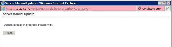 Old update in progress window