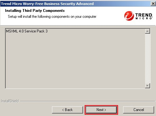 Installing third-party components