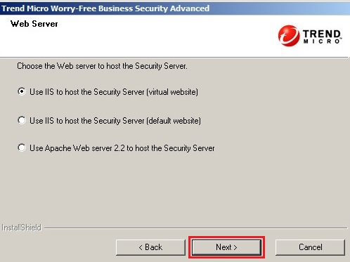 Choosing a web server