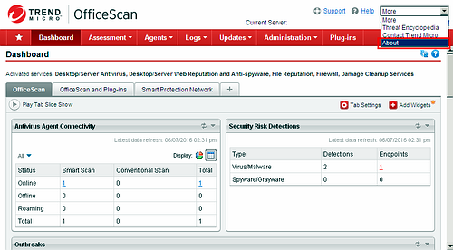 OfficeScan 11.0 console