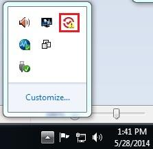 SSFE system tray icon