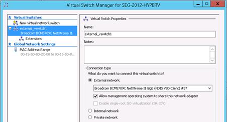 Configure external switch