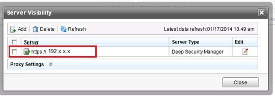 Correct server details