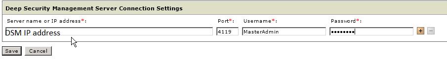 Management Server Connection Settings
