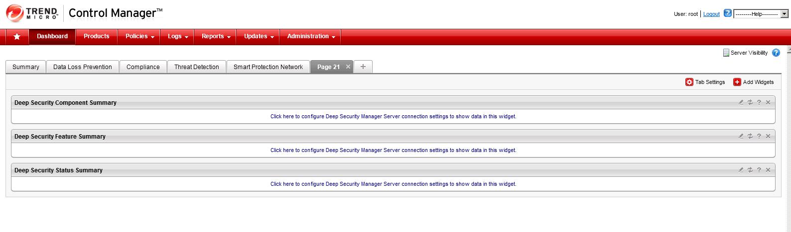 TMCM Widget for Deep Security