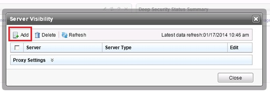 Server visibility window