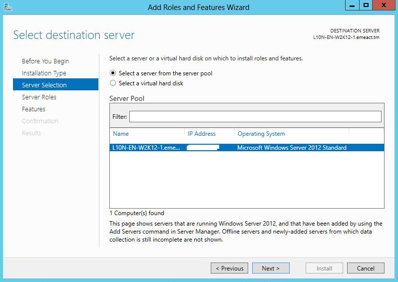 Server Selection