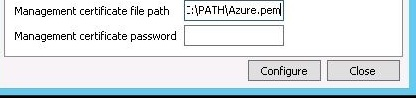 Provide the management certificate file path