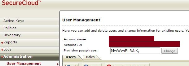 Go to Administration > User Management to get the information.