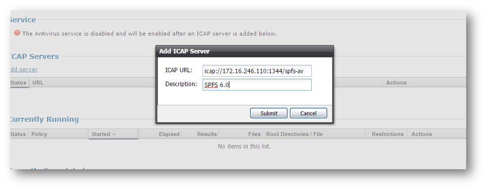 Add ICAP Server