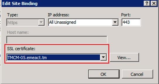 Uploaded SSL certificate